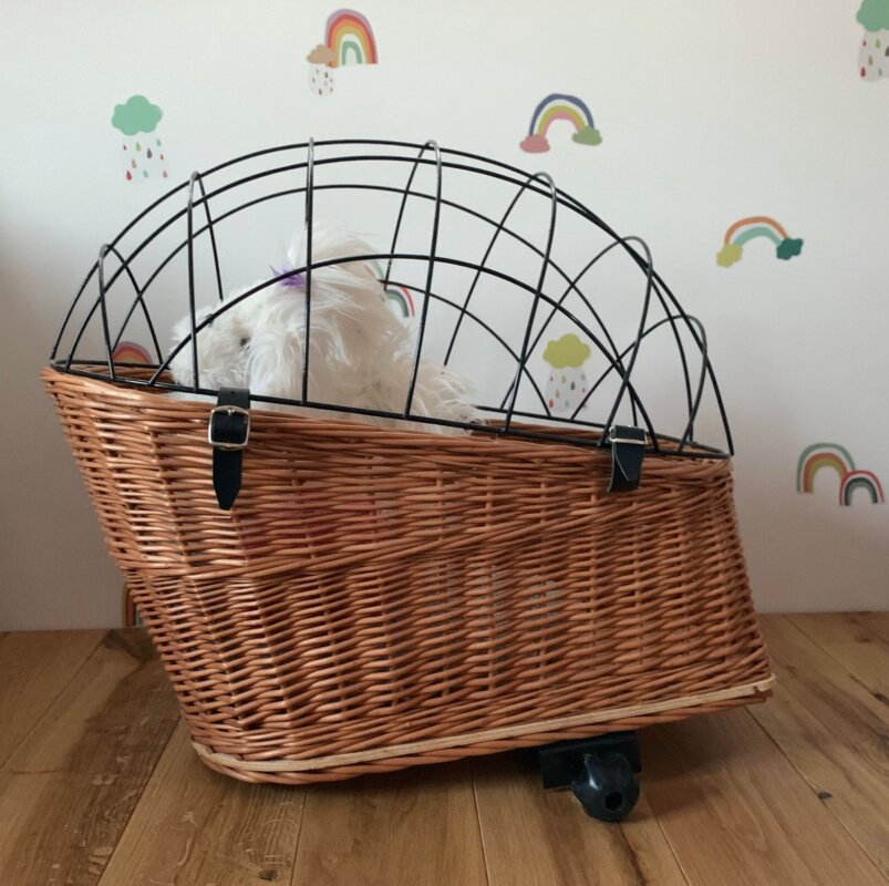 cat wicker carrier