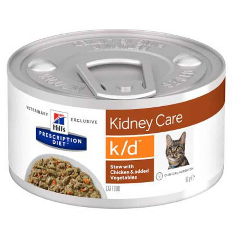 Hills Prescription Diet Kidney Care low protein cat food pack