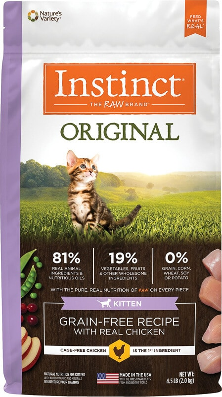 instinct dry kitten food