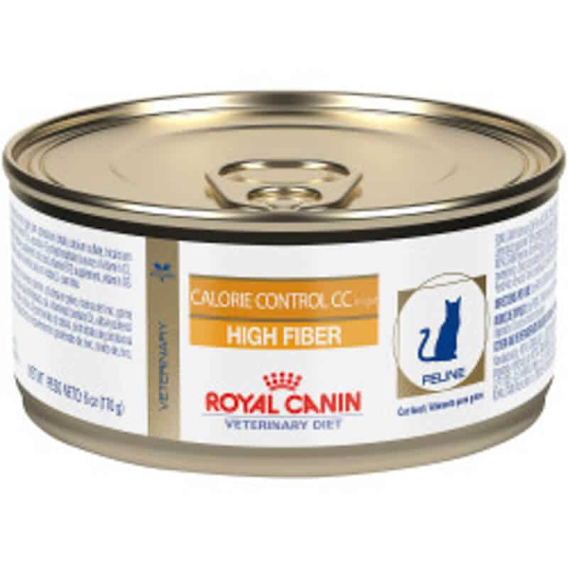 can of royal canin Calorie control high fiber cat food
