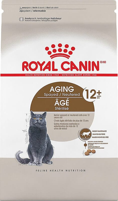 royal canin ageing spayed and neutered cat food