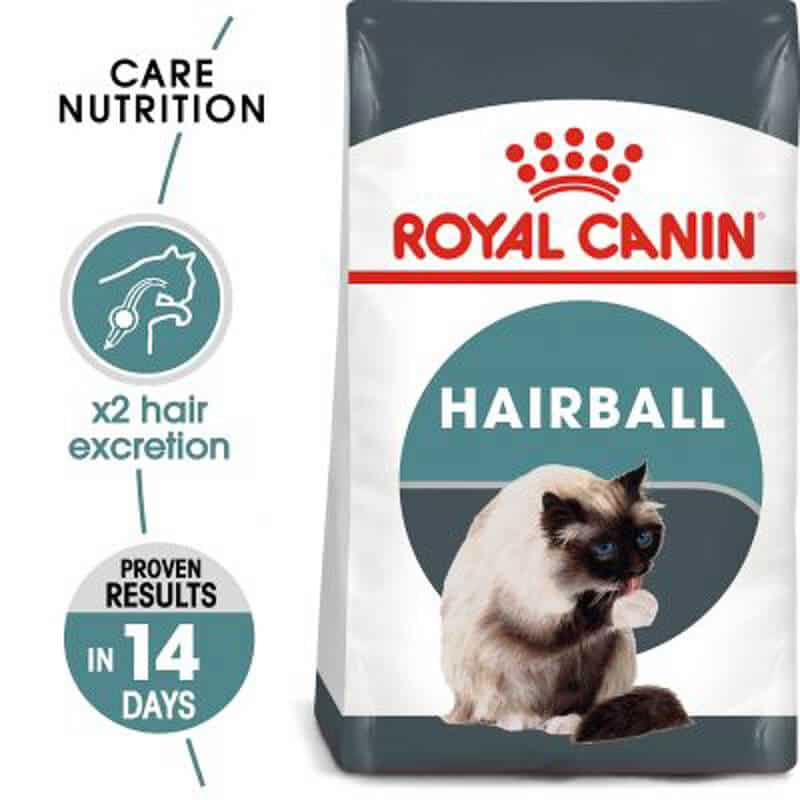 bag of royal canin hairball cat food