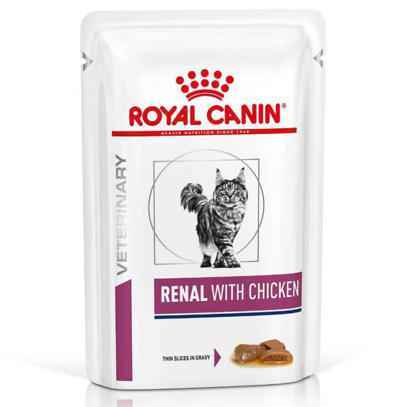 royal canin renal with chicken low protein cat food pack