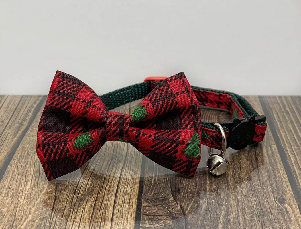 bow tie christmas cat collar