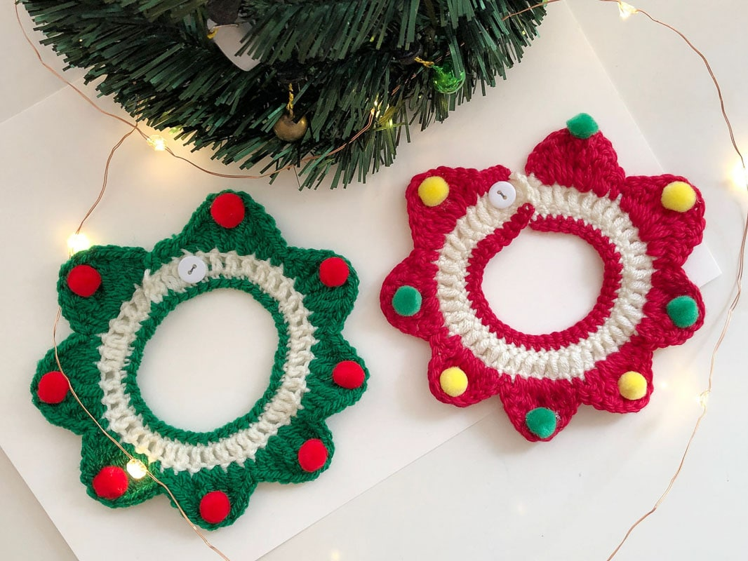 crochet christmas cat collar