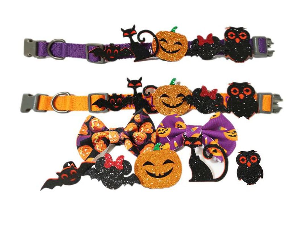 halloween detachable cat collars