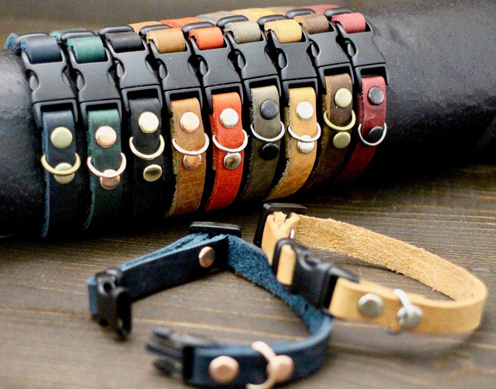 leather breakaway cat collar