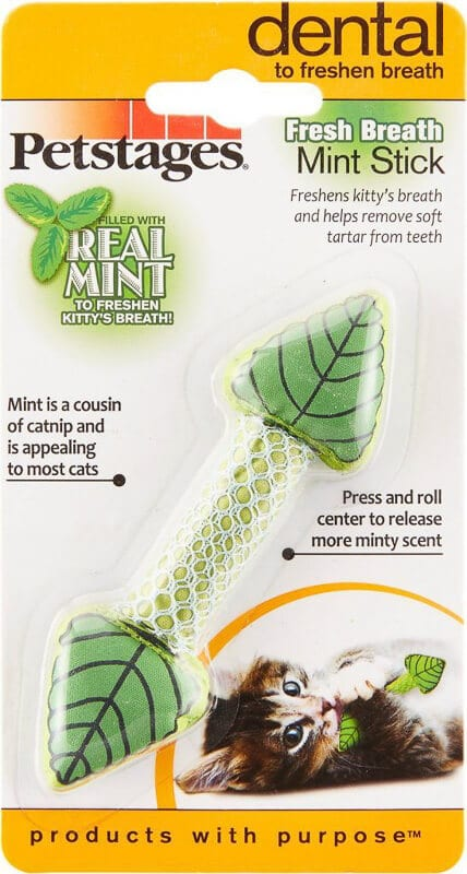 Petstages real mint fresh breath stick chew toy