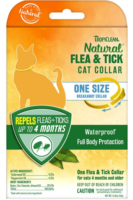 TropiClean Natural Flea and Tick Collar for Cats - TropiClean Pe