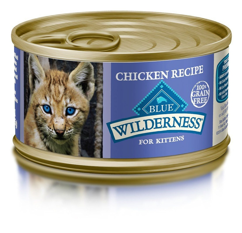 blue wilderness wet kitten food